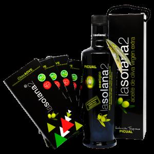 aceite de oliva virgen extra lasolana2 pack golo con aceite picual y chocolate con aceite